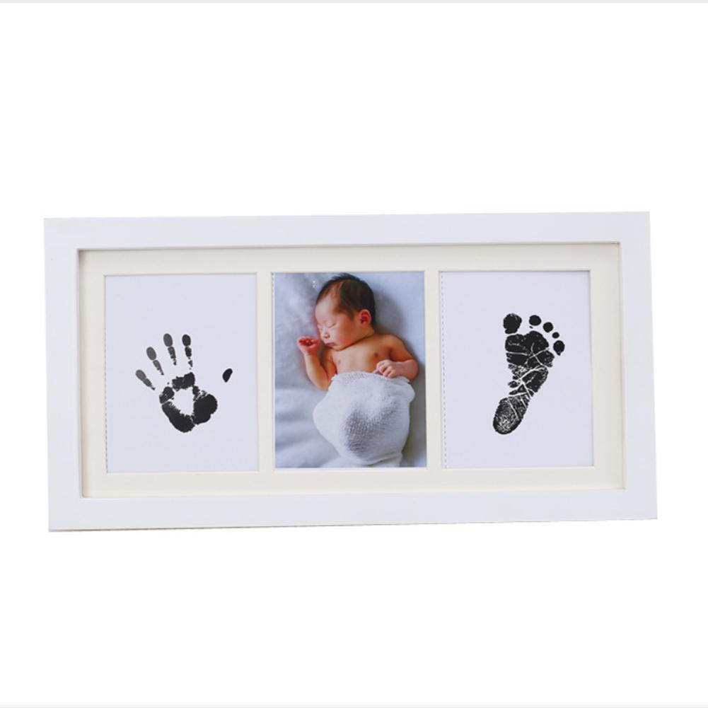 Newborn Baby Hand And Foot Inkpad Photo Frame Hand And Foot Print Souvenir Full Moon Birthday Gift Commemoration