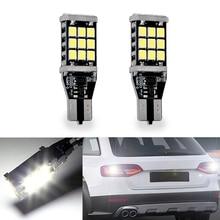 2x üstün LED T15 W16W 21 SMD 2835 araba oto Canbus geri vites lambaları dur ışığı yedekleme ışıkları ters ampul