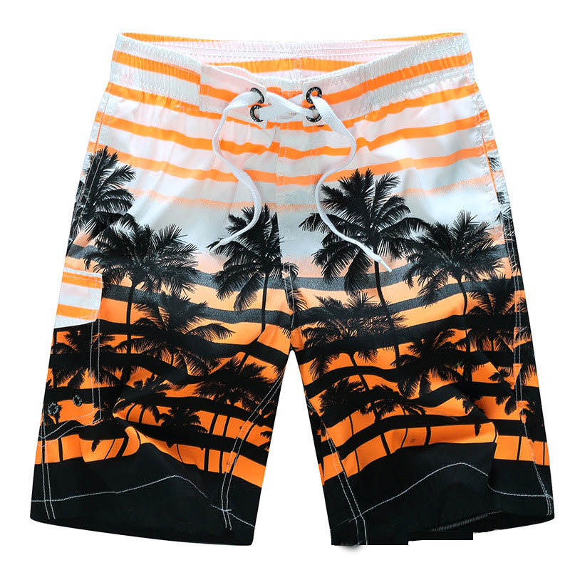 High Elastic Men's   Board     Shorts   Surf Swimwear Beach   Shorts   Male fashion printed Swim   Shorts   Summer Athletic Running Gym   Shorts