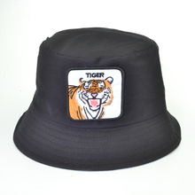 harajuku pop Embroidery Tiger Bucket Hat Men Fisherman Women Summer Animal Cap Panama Fishing Sun