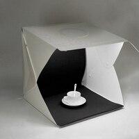 New LED Light Softbox 40cm Mini Photo Studio Tabletop Shooting Tent Lightbox Photography Studio Accessories Backdrops Lightbox