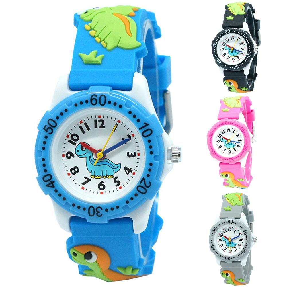 Children Watches Dinosaur Round Dial Arabic Number Colorful Boys Watch Girls Kids Party Gift Clock Q