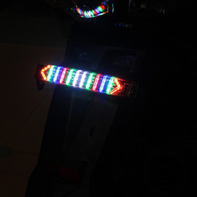 Motorcycle LED Rear Brake Tail Light License Plate Mount Decorative Lights Black bolts mount license plate decorative главдор gl 109 reflective red and white 4 pcs 20