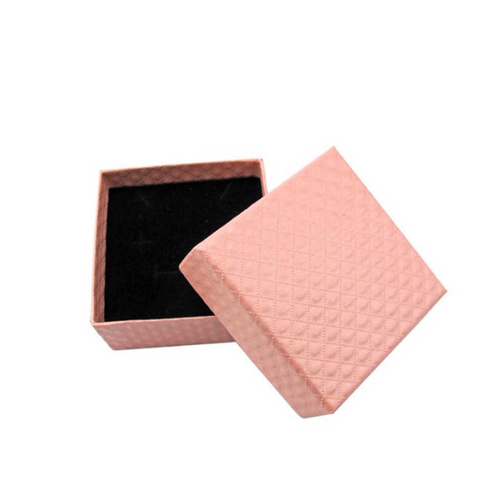 Venta al por mayor caja de anillo, collar, pulsera, pendiente, caja de joyería, bolsa de papel, fecha de boda, caja de joyería, regalo, organizador de joyería