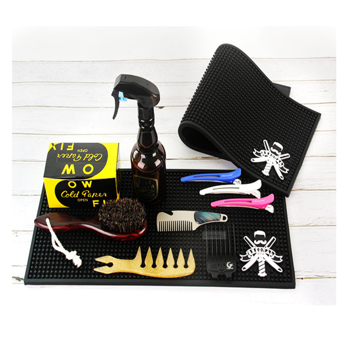1pc Rubber Hair Tools Mat Salon Barber Waterproof Insulation Pad Styling Tools Accessories