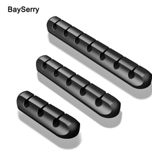Cable Holder Silicone Cable Organizer Flexible USB Winder Management Clips Holder For Mouse Keyboard Earphone Headset for iPhone silicone cable organizer usb cable holder flexible cable winder management cable clips holder for mouse keyboard earphone wire