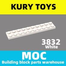 Kury brinquedos diy moc para 3832 100 peças bloco de construção para placa 2x10 para brinquedo tijolo