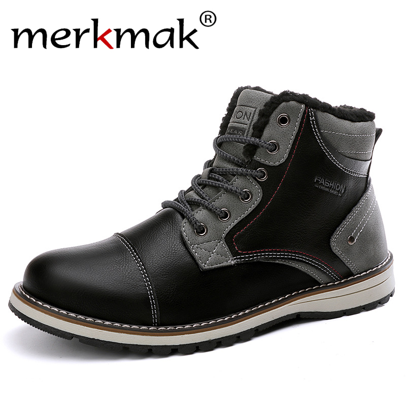 Work-Boots British Winter Autumn Men's Fashion New Trend Non-Slip Soft Warm-Tooling Wear-Resistant