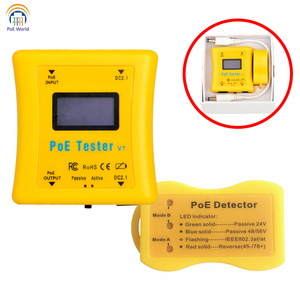 Image 5 - Testeur PoE paquet de détecteur PoE de poche testeur de tension et de courant PoE en ligne détecteur PoE pour installation de vidéosurveillance