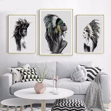 Indian and Nordic Decorative Paintings Modern simple living Room Abstract Cuadros Decoracion Dormitorio Wall Art