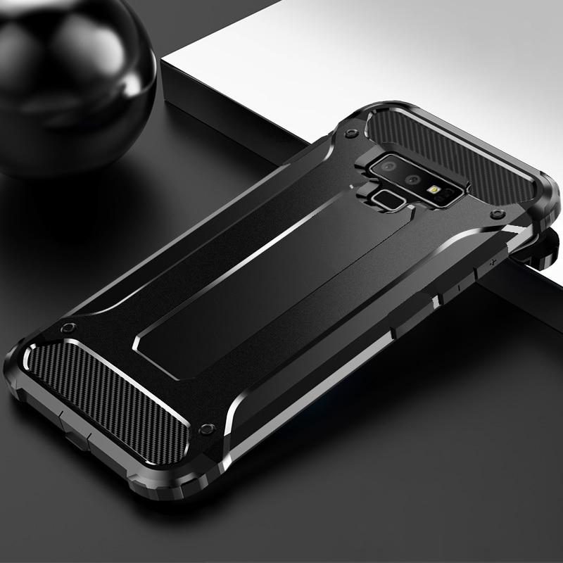 Sağlam Zırh Vaka Samsung Galaxy S10 S9 S8 S6 S7 Kenar Not 10 8 9 Artı M10 M20 M30 M03S Kılıf Kapak TPU Koruyucu Tampon