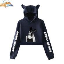 Ariana Grande cat crop hoodies hot fashion so trend sala Cat Crop Top W