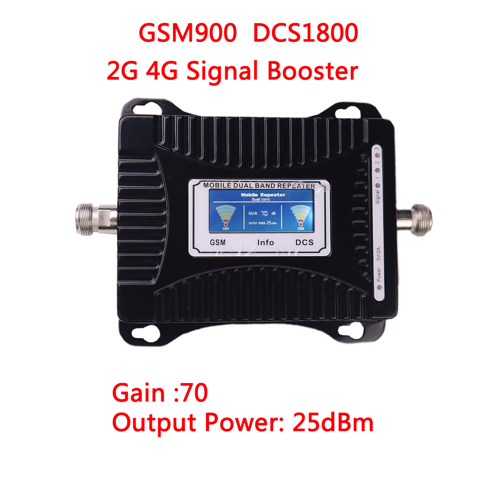2G 4G Signal Booster GSM 900 4G LTE 1800 Repeater GSM 1800mhz Mobile Signal Booster DCS Dual Band Cellular Amplifier Booster