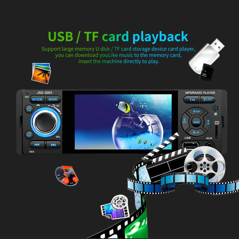 LTBFM Autoradio 1 الدين راديو السيارة JSD-3001 4.1 MP5 سيارة لاعب شاشة تعمل باللمس سيارة ستيريو بلوتوث 1Din راديو تلقائي كاميرا مرآة وصلة