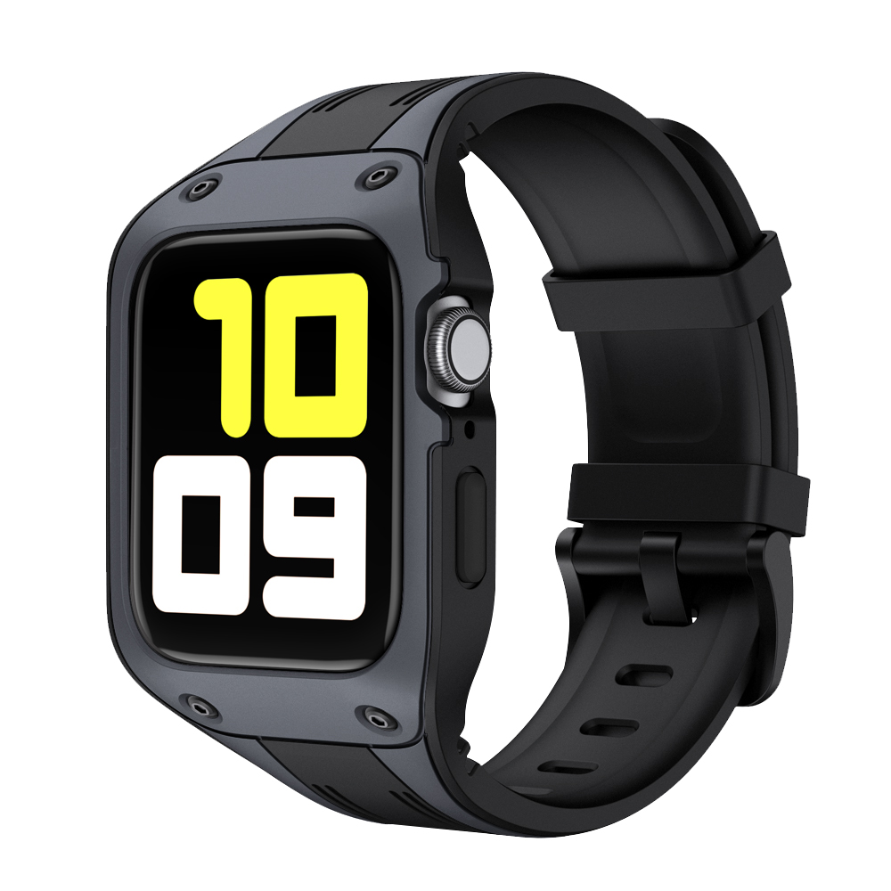 Sport Silicone With protective Cover Case Band For <font><b>Apple</b></font> <font><b>Watch</b></font> <font><b>42mm</b></font> 44mm Strap iWatch Series 2 <font><b>3</b></font> 4 5 Band Silicone Wristband image