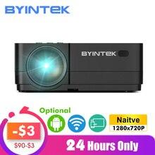 BYINTEK K7 אנדרואיד החכם Wifi LED מיני נייד וידאו HD מקרן עבור Iphone Ipad Smartphone Tablet משחק 1080P בית תיאטרון