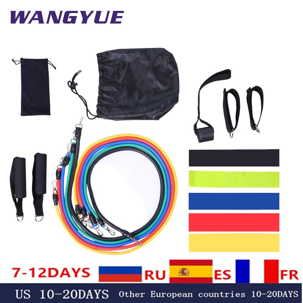 Эластичные ленты из латекса, 17 шт./компл., ремешки на лодыжку с якорем для тренажерного зала, комплект ремешков для упражнений для йоги, резиновая петля для фитнеса-0