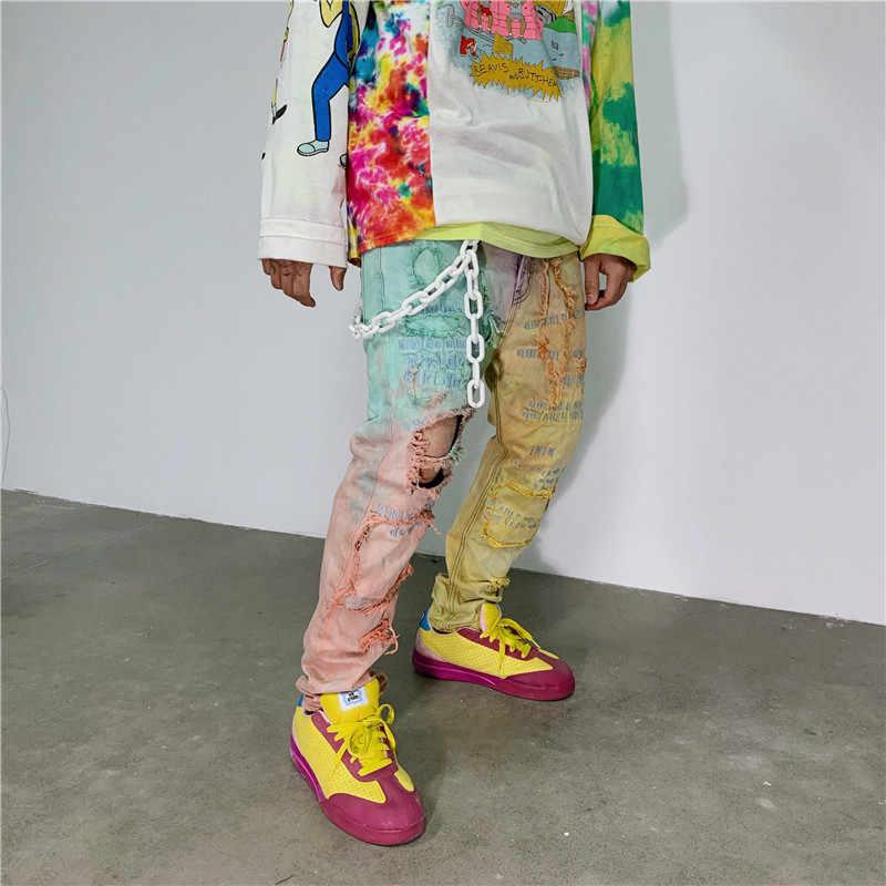 Модная панк хип-хоп трендовая пояс-цепочка на талию широкие пояса мужские брюки цепочка на джинсы Панк серебряное металлическое большое кольцо брюки цепочки YE63