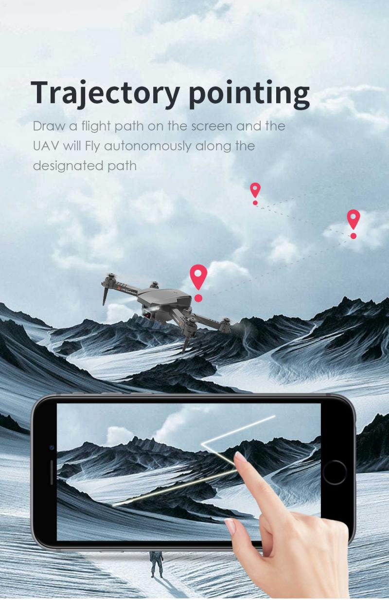H21d43e969fb4470d82bd648b42c6e535N - L703 Folding Drone 4K HD Aerial Photography Cameras WIFI FPV Aerial Photography Helicopter Foldable Quadcopter Drone Toys