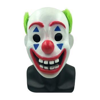Película 2019 Joker ARTH Fleck Cosplay máscara payaso látex Halloween máscaras accesorios divertidos