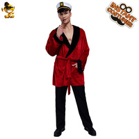 Play Boy's Smoking Jacket Fancy Dress Boy Red Smoking for Adult Halloween Party Costumes