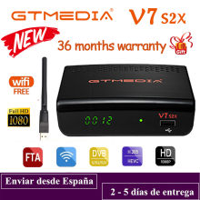 DVB-S2 Gtmedia V7 S2X FTA satellite receiver USB WIFI free upgrade from gtmedia V7s hd H.265 TV Box 1080P fast delivery no app