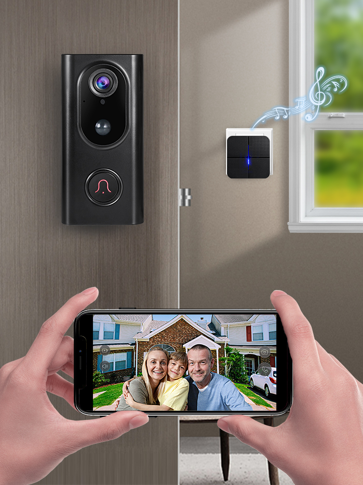 KERUI Doorbell Camera Video-Intercom Cloud-Storage Security-Phone Ip-Wifi Waterproof