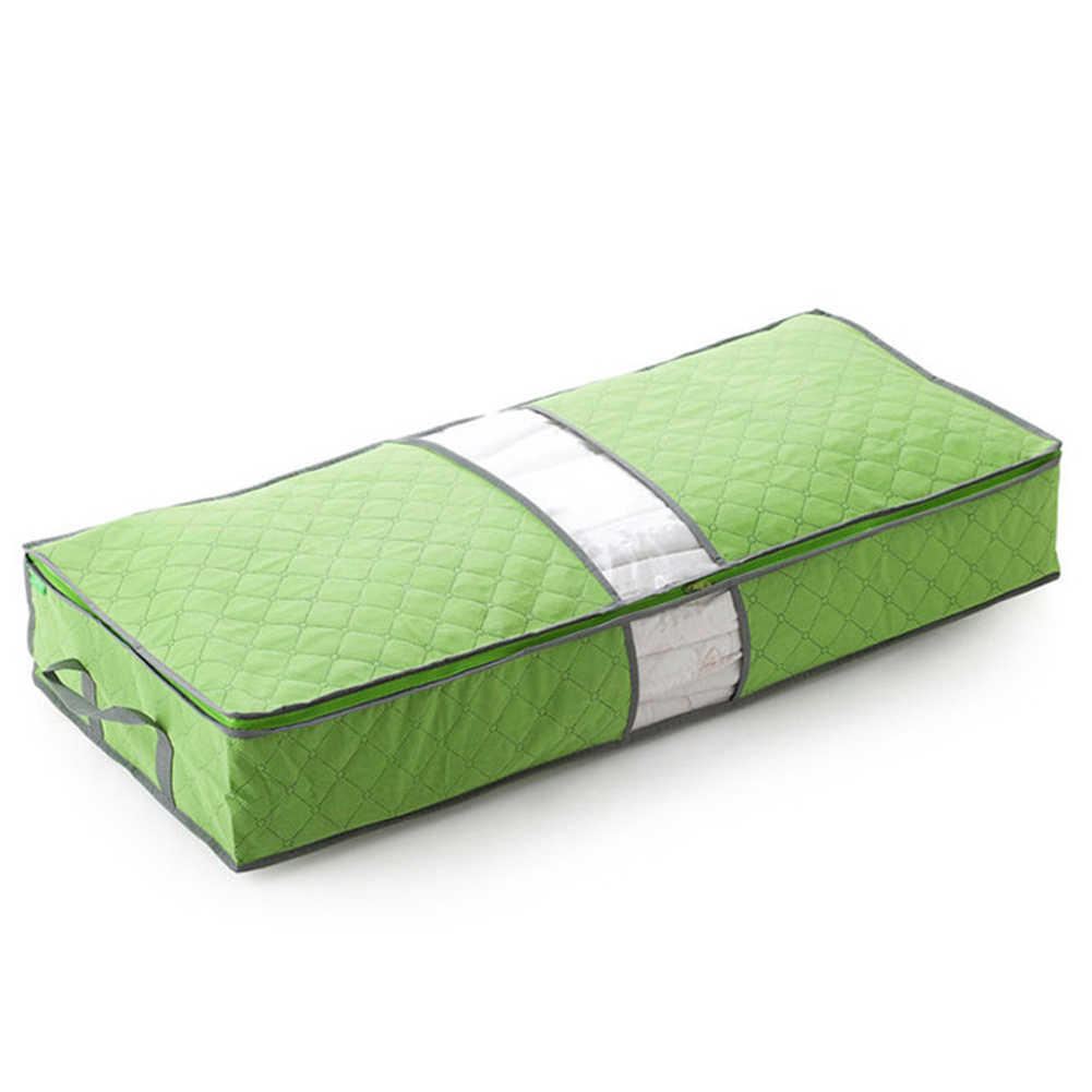 Family Save Space Storage Bag Non-Woven Bed Under Closet Storage Box Clothes Divider Organiser Quilt Bag Holder Organizer