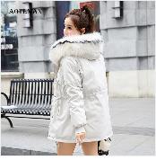 Autumn Winter Coat Women 2019 Fashion Vintage Slim Double Breasted Jackets Female Elegant Long Warm White Coat casaco feminino 41