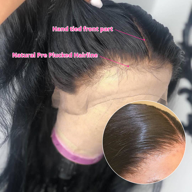 Abijale 13x4 Lace Front Human Hair Wigs Pre Plucked Straight Lace Front Wig 4x4 Lace Closure Wig Brazilian 360 Lace Frontal Wig 6