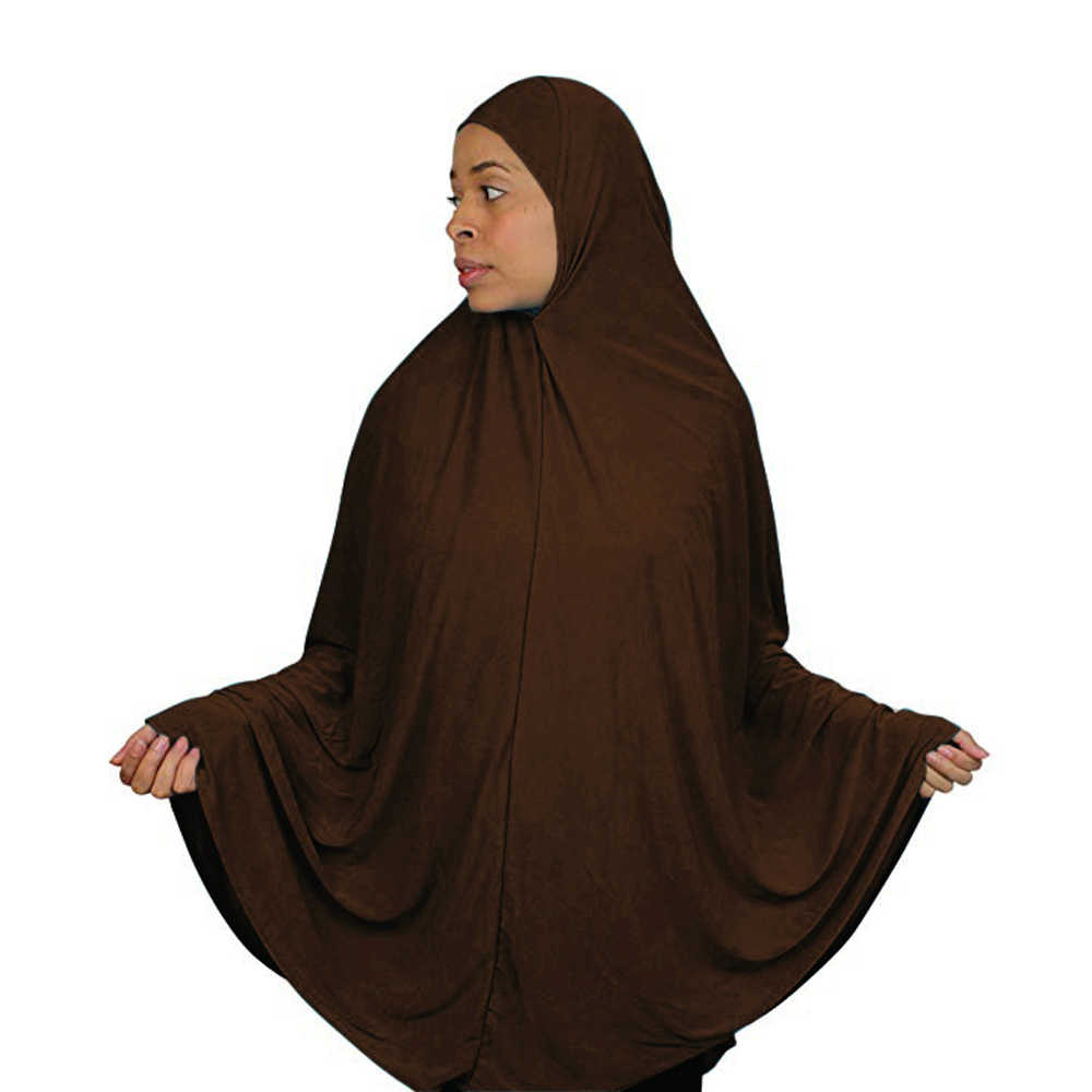 Amira long Scarf Hijab Women Head Wrap Full Cover Prayer Khimar Muslim Overhead