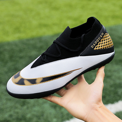 Men's and women's outdoor turf football shoes student boy cleats FG / TF parent-child football indoor futsal football size 32-44