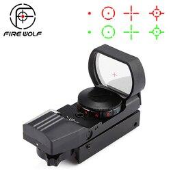 Chaude 20mm/11mm Rail lunette de visée optique de chasse holographique point rouge vue réflexe 4 réticule tactique portée collimateur vue