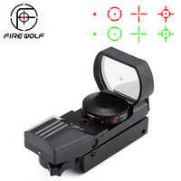 Hot 20 Millimetri/11 Millimetri Ferroviario Cannocchiale Ottiche da Caccia Olografico Red Dot Sight Reflex 4 Reticolo Tactical Scope Collimatore Sight