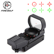 Hot 20mm/11mm Rail Riflescope Hunting Optics Holographic Red Dot Sight Reflex 4 Reticle Tactical