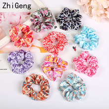 10pcs Solid Lady Hair Scrunchies Ring Elastic Bands Pure Color Bobble Sports Dance Soft Flower Charming Scrunchie Hairband