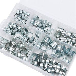 Image 4 - 140 pièces Double oreille O Clips pinces acier zingué assortiment pour tuyau hydraulique carburant
