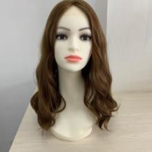 18 дюймов цвет 8 европейские девственные волосы слегка волнистые Кошерный парик лучшие ножницы