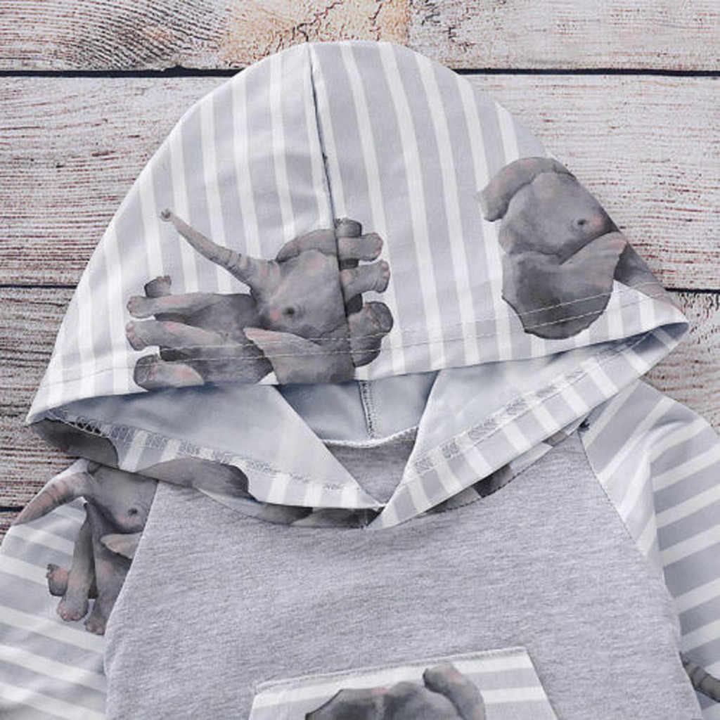 Bebê recém-nascido meninas menino com capuz tops calças roupas de outono conjuntos de treino dos desenhos animados manga longa meu primeiro natal menina