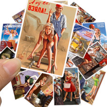 25Pcs Mixed World War II Sexy Pin up Girl Poster Stalin Stickers Waterproof Stickers Car Phone Motorcycle Luggage Laptop Decal