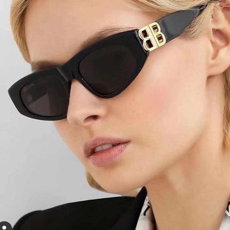 Moderne Nouveau Oeil de Chat Rond Lunettes de soleil velours Cadre UV400 Rétro Vintage Style 4171