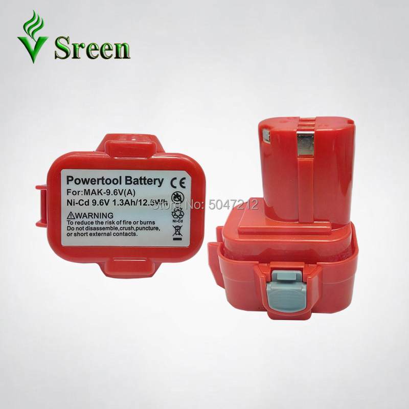 1300mAh NI-CD <font><b>9.6V</b></font> PA09 <font><b>Battery</b></font> For <font><b>Makita</b></font> Replacement Rechargeable Power Tools <font><b>Battery</b></font> Packs 9122 <font><b>9120</b></font> 9100 9100A 9101 image