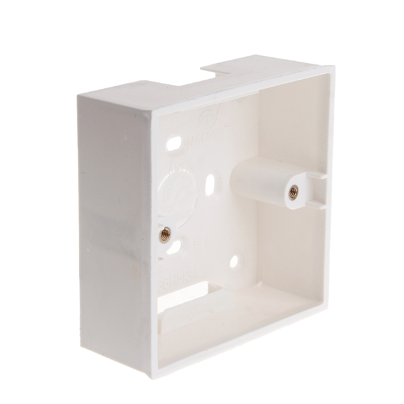 New 86X86 PVC Junction Box Wall Mount Cassette For Switch Socket Base