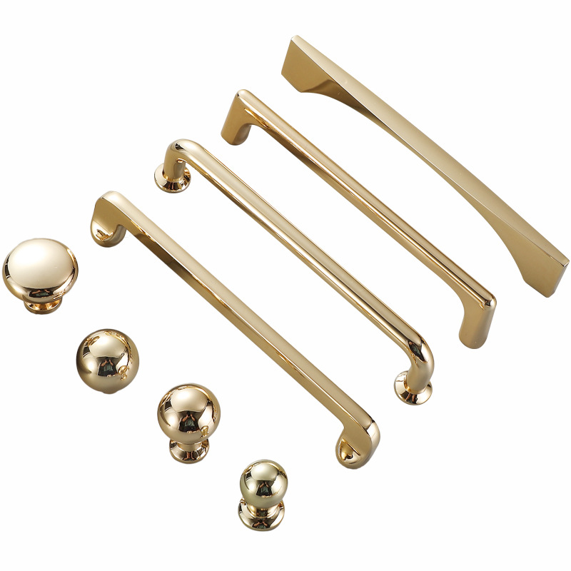 KK&FING Golden Kitchen Cabinets Door Pulls Wardrobe Knob Rench Country Drawer Knobs Furniture Hardware Jewelry Armoire Handle