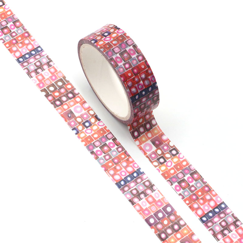 NEW Cute Watercolor Red Color Point Washi Tape Paper For DIY Planner Scrapbooking Decorative Masking Tape School Office Supplies