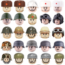 WW2 Military Soldiers Weapons Accessories building blocks Military Army Weapons Guns Helmets Bricks Weapons Parts blocks toys ww2 soviet army soldiers building blocks weapons antiaircraft gun tracked motorcycle accessory building blocks bricks toys