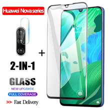2-in-1 3D Tempered Glass For Huawei Nova 5 3 i Screen Protector nova 5i original Camera glass huawei Protective