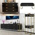 TV Stand suporte para monitor mueble stalinite designer de aço inoxidável armário do lado da Mesa de centro mesa de Café + + jantar + flor stand