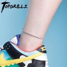 Jewelry Anklet Tennis-Chain Charm Iced Fashion Choker for Gift Can Adjustable 4mm Hip-Hop