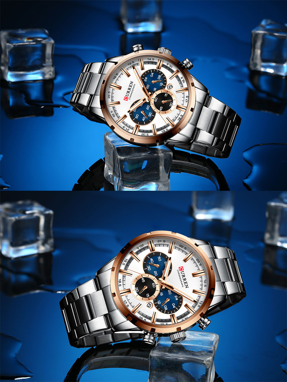 H21d6059c1b7f465ebb415f0ddfd72ed7t CURREN New Fashion Mens Watches Quartz Chronograph